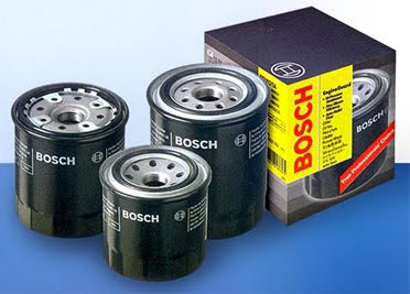 Typical Bosch automotive engine oil filters